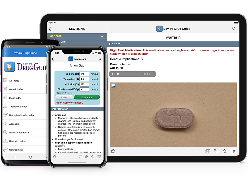 Davis Drug Guide App -- Apple and Android